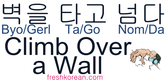 Climb Over a Wall - Fresh Korean Phrase Card