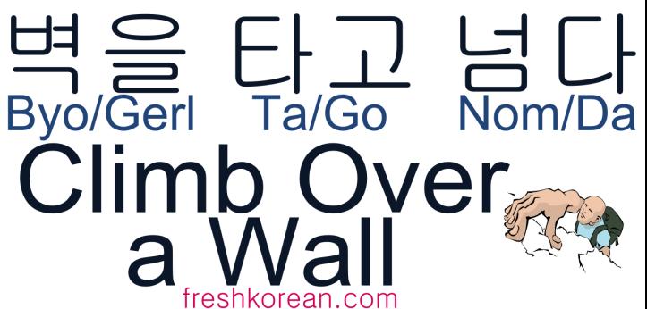 Climb Over a Wall - Fresh Korean Phrase Card
