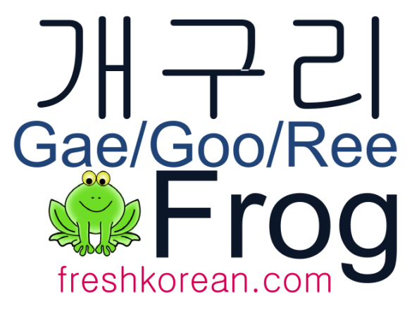 Frog - Fresh Korean Phrase Card