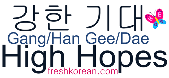 High Hopes - Fresh Korean Phrase Card