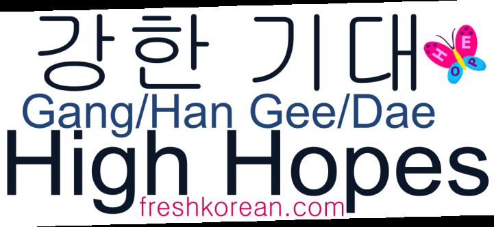 High Hopes - Fresh Korean Phrase Card