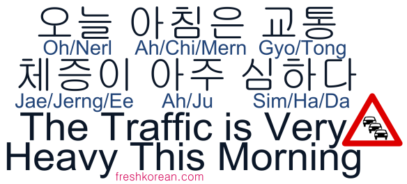 The Traffic is Very Heavy This Morning - Fresh Korean Phrase Card