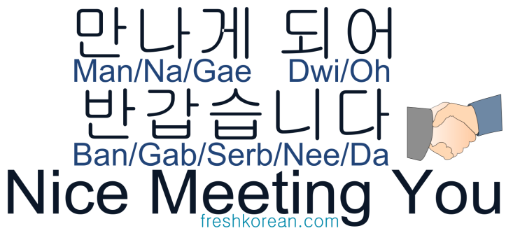 Nice Meeting You - Fresh Korean Phrase Card