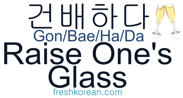 Raise One's Glass- Fresh Korean Phrase Card