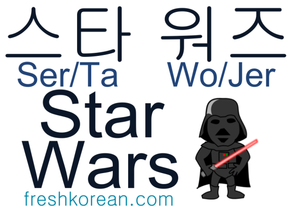 Star Wars - Fresh Korean Phrase Card