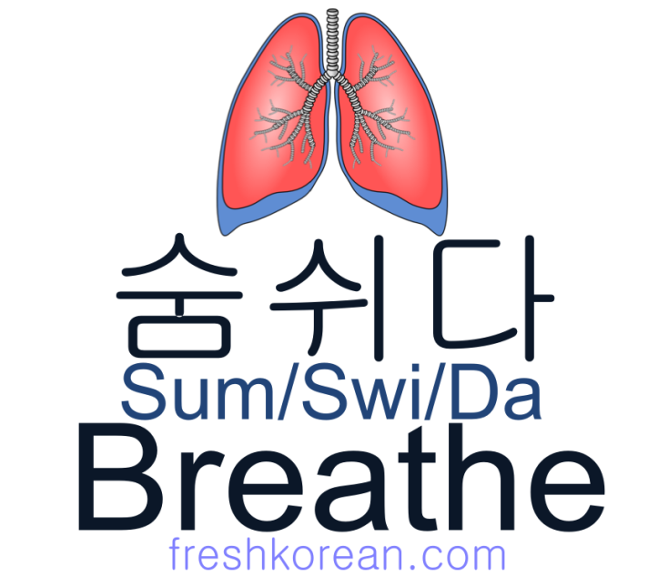 breathe - Fresh Korean Phrase Card