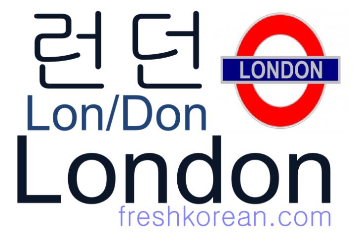 London - Fresh Korean Phrase Card