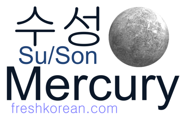 mercury - Fresh Korean Phrase Card
