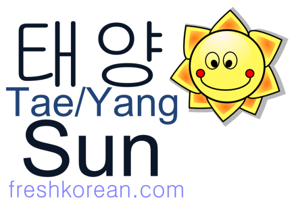 sun - Fresh Korean Phrase Card