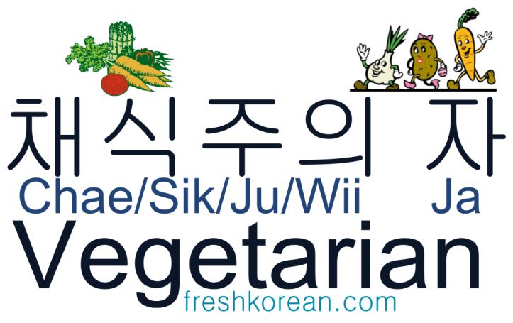 Vegetarian - Fresh Korean Phrase Card