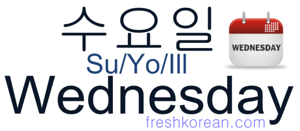 Wednesday - Fresh Korean Phrase Card