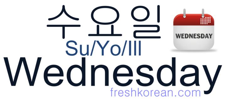 Wednesday - Fresh Korean Phrase Card