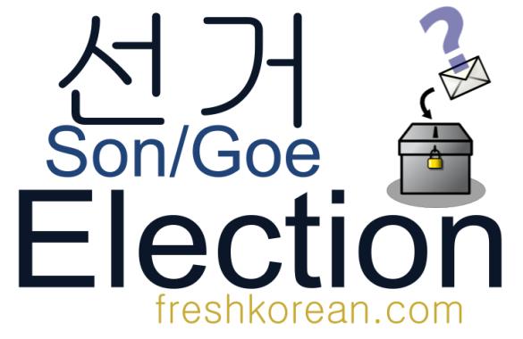 Election - Fresh Korean Phrase Card
