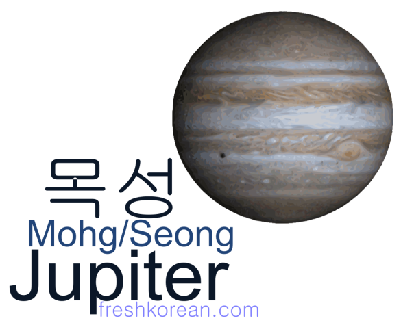 jupiter - Fresh Korean Phrase Card