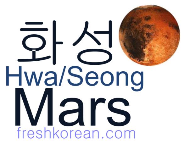 mars - Fresh Korean Phrase Card