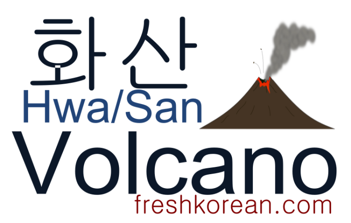 volcano - Fresh Korean Phrase Card