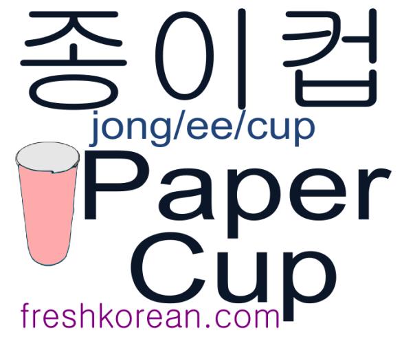 paper cup - Fresh Korean Phrase Card