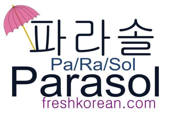parasol - Fresh Korean Phrase Card