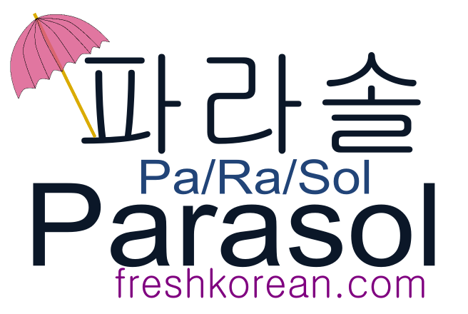 parasol - Fresh Korean Phrase Card