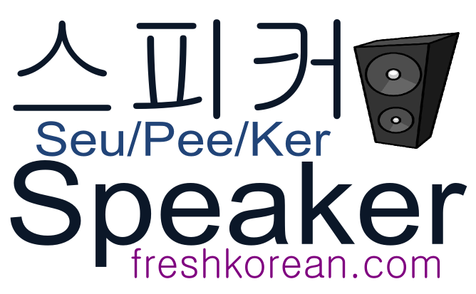 speaker - Fresh Korean Phrase Card
