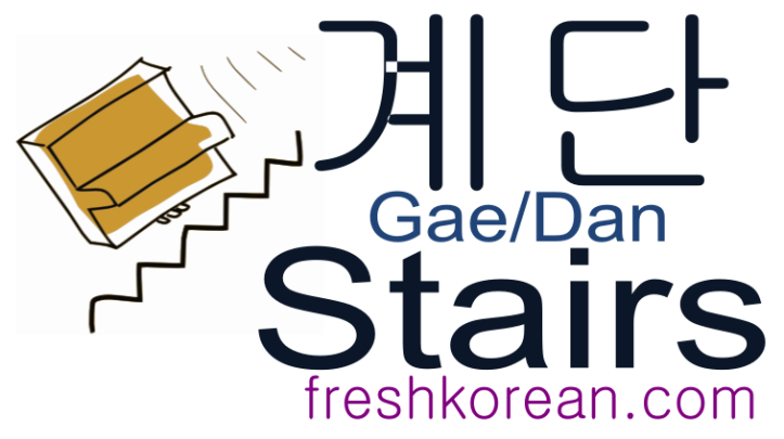 stairs - Fresh Korean Phrase Card