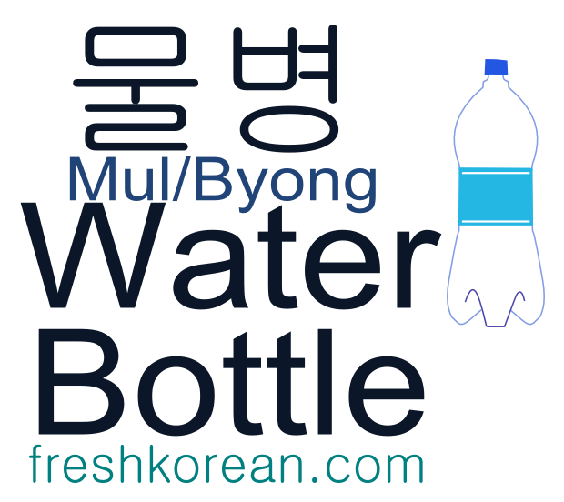 water bottle - Fresh Korean Phrase Card