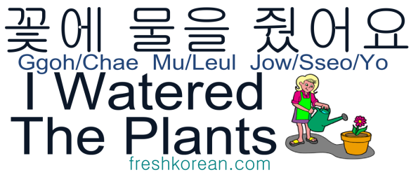 I watered the plants - Fresh Korean Phrase