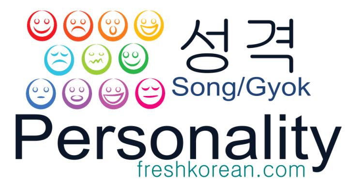 personality - Fresh Korean Phrase