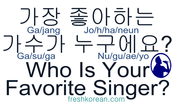 who is your favorite singer - Fresh Korean Phrase