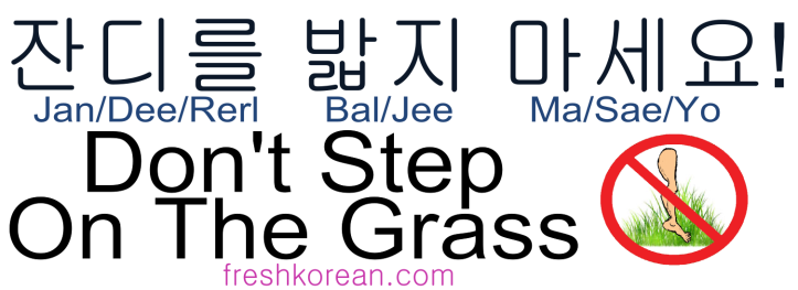dont-step-on-the-grass-fresh-korean-phrase